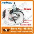 Genuine KEIHIN 30mm Carburetor  Accelerating Pump Racing Performance 150 200cc 250cc IRBIS TTR Carburetor + Dual Throttle Cable