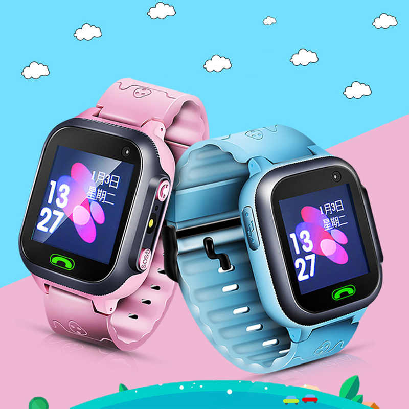 Smart Watch for Kids Safe LBS SOS Camera SIM Call Baby Wristwatch Waterproof  SmartWatch Gift for Children GPS Men Women