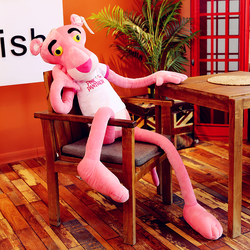 high quality 80cm 130cm150cm Cute Pink Naughty Leopard Pink Panther Plush Stuffed Toys Baby Kids Doll Brinquedos free shipping
