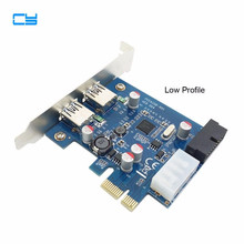 USB3.0 USB 3.0 PCI-E pcie card & 2 PORT and 20pin Female & Low Profile Half height bracket ulanson pcie expansion card w 2 port usb3 0 15 pin sata connector low profile