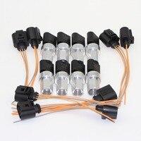 8 Set Air Conditioning Pipe Pressure Sensor Switch + Cable Harness Plug VW Jetta MK4 Golf MK5 Passat B5 B6 Touareg 1K0 959 126 E
