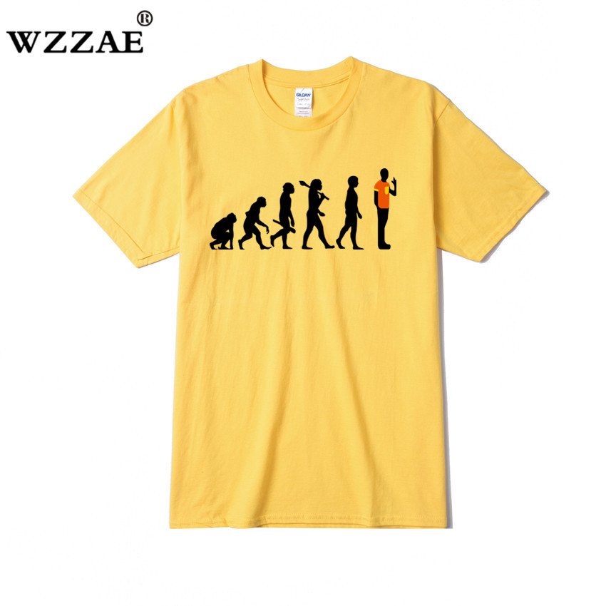 WZZAE Reverse Evolution Men T shirt Big Bang Theory Sheldon Cooper Tshirt Cotton Short Sleeve T shirt 2017 Fashion Mens Camiseta