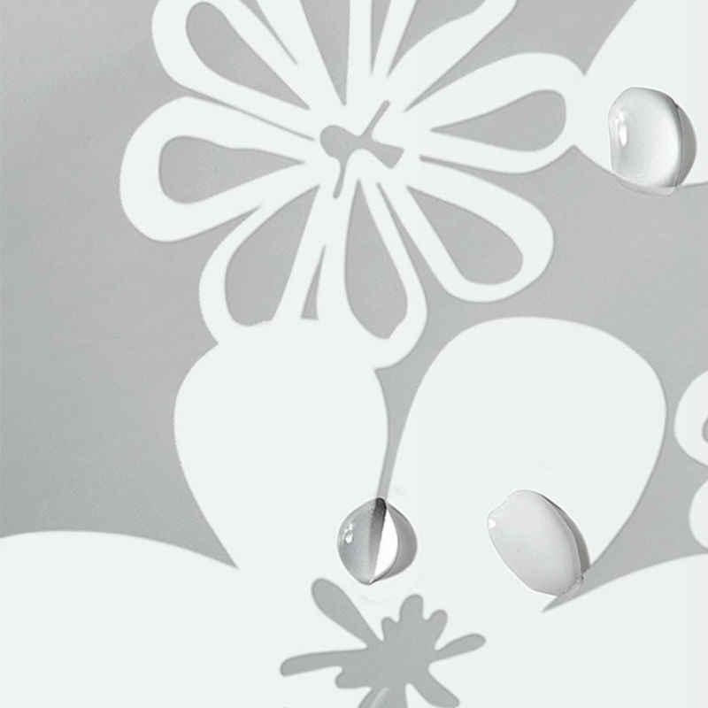 UFRIDAY دش مقاوم للماء الستائر شفافة الزهور دش الستار PEVA البلاستيك الحمام الستار زهرة بيضاء ستارة حمام