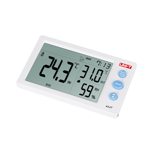 Image 4 - UNI T a12t digital lcd termômetro higrômetro temperatura medidor de umidade despertador estação meteorológica ao ar livre indoor instrumento