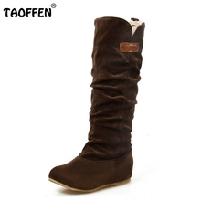 Size 34-46 Women Flat Half Boots Winter Snow Boot Fashion Quality Footwear Warm Botas Feminina Shoes P2394