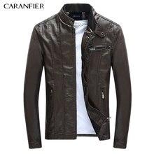 CARANFIER Men s PU font b Jackets b font Coats Motorcycle font b Leather b font