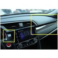 3pcs/set Carbon Fiber Car Styling Center Console Dashboard Cover Trim Sticker Fit For Honda Civic 2017 2016 Auto Interior