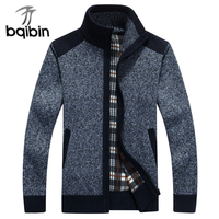 New Arrives Autumn Winter Men S Sweaters Mandarin Collar Casual Clothes For Men Zipper Sweater Warm