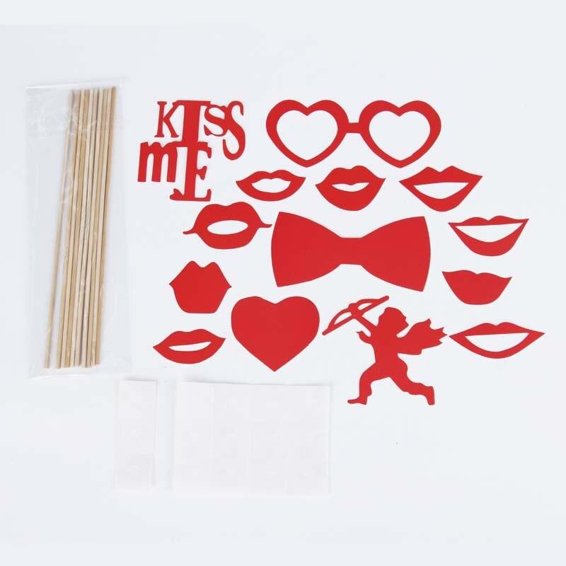 14 Teile/satz Rot Valentine Amor Serie Parteibevorzugung Maske ...