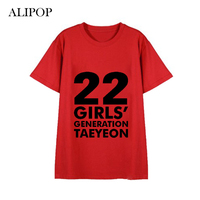 ALIPOP Kpop Girls Generation 10th Anniversary Album Shirts Red And Grey Clothes Tshirt T Shirt Short