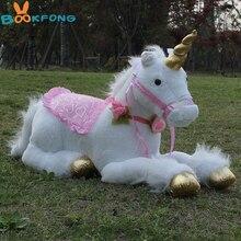 85 cm Jumbo Unicornio blanco juguetes de Peluche Unicornio gigante Animal de Peluche caballo juguete suave Unicornio Peluche muñeca regalo niños foto utilería