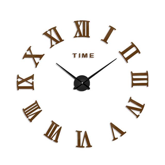 Reloj de pared con espejo hermoso Digital grande Relojes de pared de bricolaje decoración moderna sala de reuniones silencioso nuevo reloj de pared