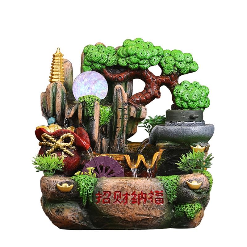 110/220 V со шпилькой, креативный, ручная работа, смола альпинарий фонтан аквариум Настольный бонсай Feng Shui украшения дома офиса счастливая фонт...