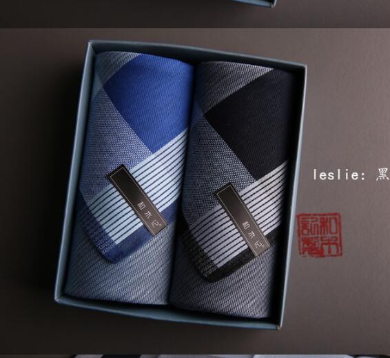 Men Furoshiki Handkerchief Toalha 100% Cotton Pocket Handkerchiefs 43X43cm