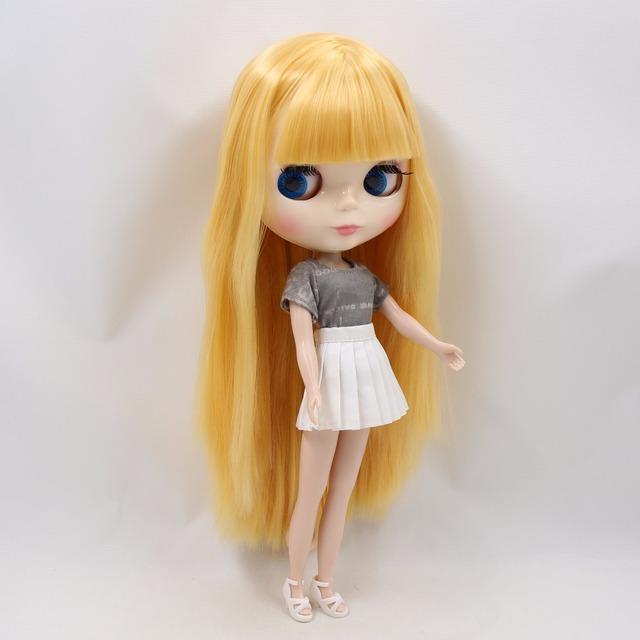 TBL Neo Blythe lutka ravno žuto zlatno kose redovito i zglobno tijelo