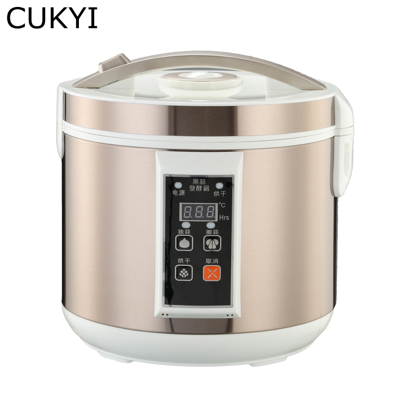 CUKYI 5L / 6L Automatic Black garlic fermenter household DIY zymolysis pot maker 110V 220V black garlic fermenting machine EU cukyi automatic electric slow cookers purple sand household pot high quality steam stew ceramic pot 4l capacity