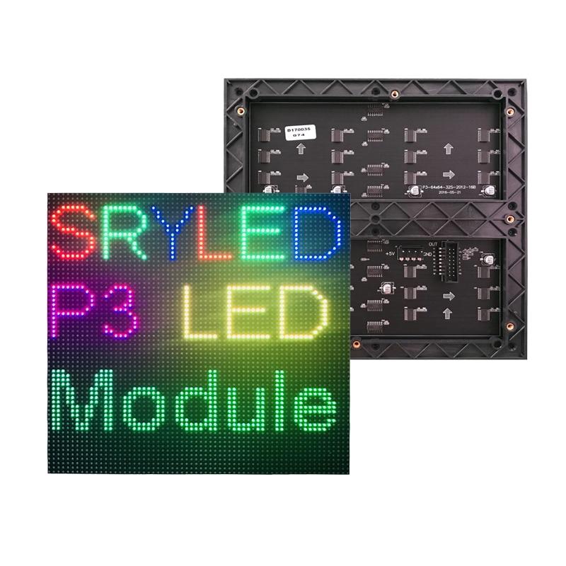 192 X192mm HD P3 Indoor Led Panel 64x64 Matrix Led Display Module