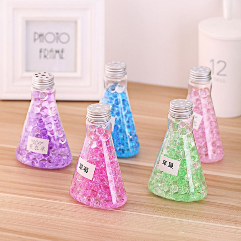 1PC Solid Fragrance Crystal Gel Beads Air Freshener Indoor Deodorant Triangle Bottle