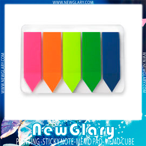 5 sets Note Paper Sticky Adhesive Post Highlighter Index Tab Flags Neon Page Marker School Memo Papers Pads