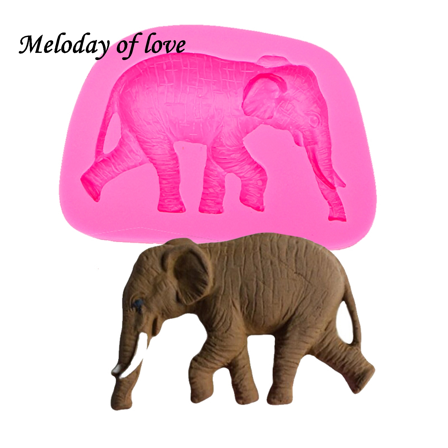 Elephant Silicone Mold for Fondant Gum Paste Chocolate Crafts