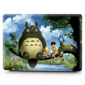 Image 2 - Totoro coque dimpression couleur étui pour ordinateur portable pour Macbook Air Pro Retina 11 12 13 15 16 pouces, étui pour nouveau 2020 Pro A2251 A2289