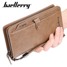 baellerry fashion men wallets pu leather casual male large capacity card holder purse wallet wallet men new brand baellerry leather multifunction wallets large capacity card holder cellphone handbag zipper coins purse bag
