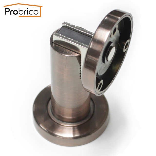 Probrico Heavy Duty Door Stop DSHH101AC Antique Copper Metal Wall Mounted  Door Holder Floor