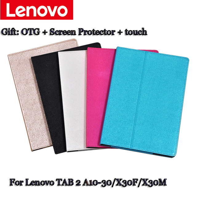 Кожаный Чехол Подставка Для lenovo TAB2 A10-30 X30F X30M раскладушка Чехол для tablet PU Защитный Shell защитный Кожаный Чехол + подарок