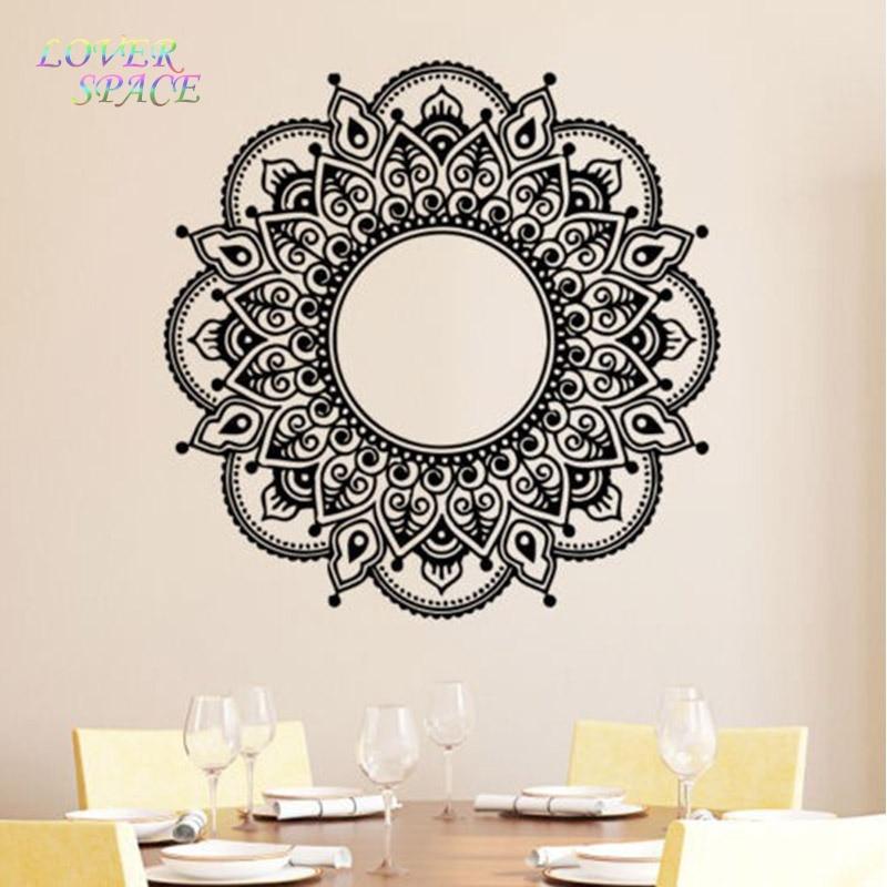 buy yoga wall decal vinyl sticker art decor mandala menhdi om indian hindu. Black Bedroom Furniture Sets. Home Design Ideas