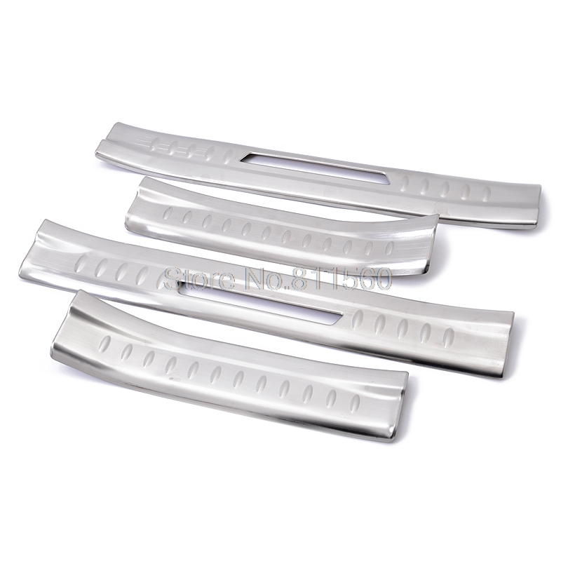 цены For Kia Sorento 2013 2014 Stainless Steel Door Threshold Protector Pedals Door Sills Scuff Plate interior moulding Entry Guard