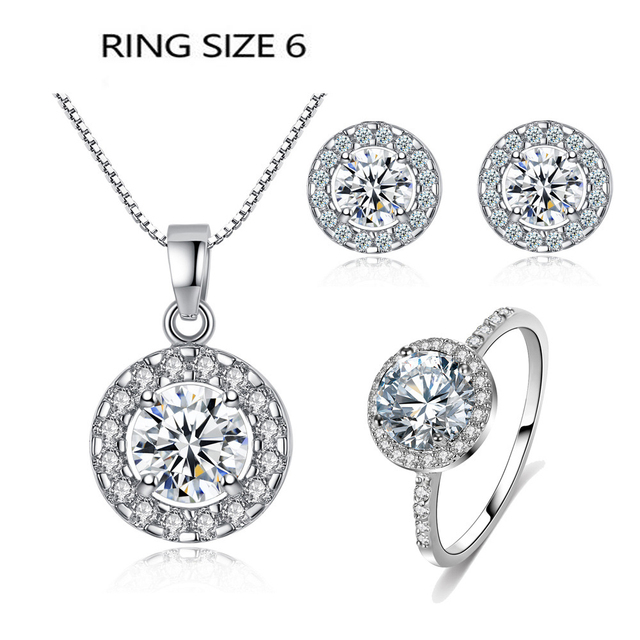 Silver Color Jewelry Sets...