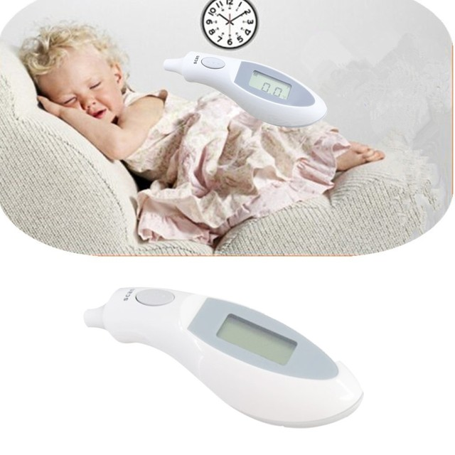 Digital Thermometer Infrared Bayi Dewasa Dahi Telinga Non-contact Infrared  Thermometer dengan Lampu Latar LCD 429c5f78c4