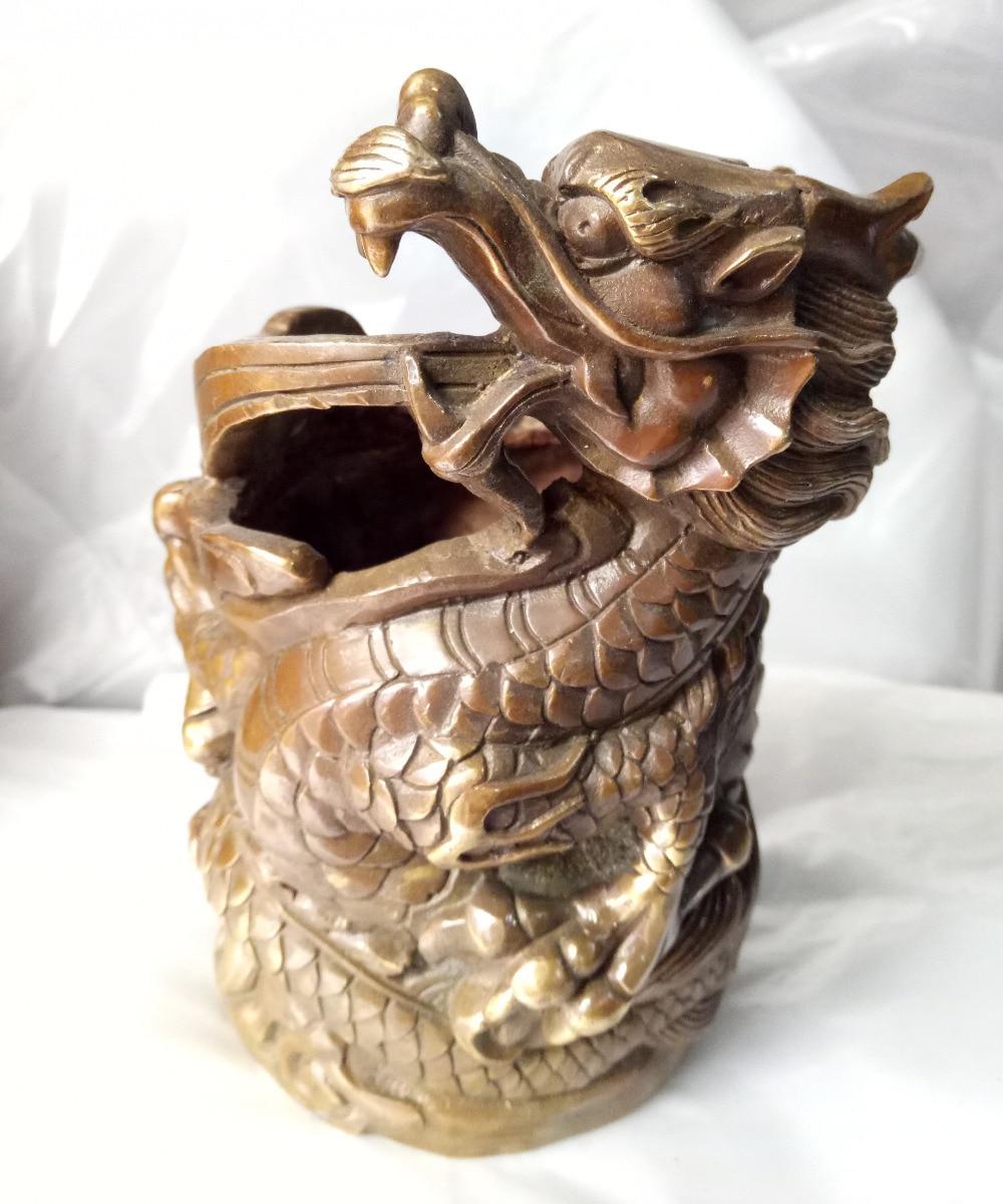 China  Folk sculpture decoration collection dragon shape pen vase sculpture collection handicraftChina  Folk sculpture decoration collection dragon shape pen vase sculpture collection handicraft