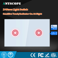 NEO Coolcam Smart Home Z Wave Plus 2CH US Light Switch Compatible Z Wave Sensitive Touch