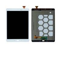 """شحن مجاني 9.7 """"لسامسونج غالاكسي تبويب SM T550 T551 T555 T550 شاشة تعمل باللمس محول الأرقام + LCD عرض الجمعية-في شاشات ولوحات LCD للأجهزة اللوحية من الكمبيوتر والمكتب على"""