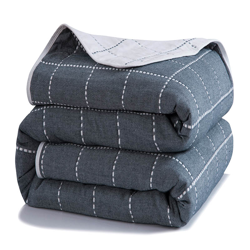 Plaid Pattern Printing Summer Quilt Towel Blanket Thin Comforter Fashion Soft Bedspread Throw For Bed Plane Air Travel