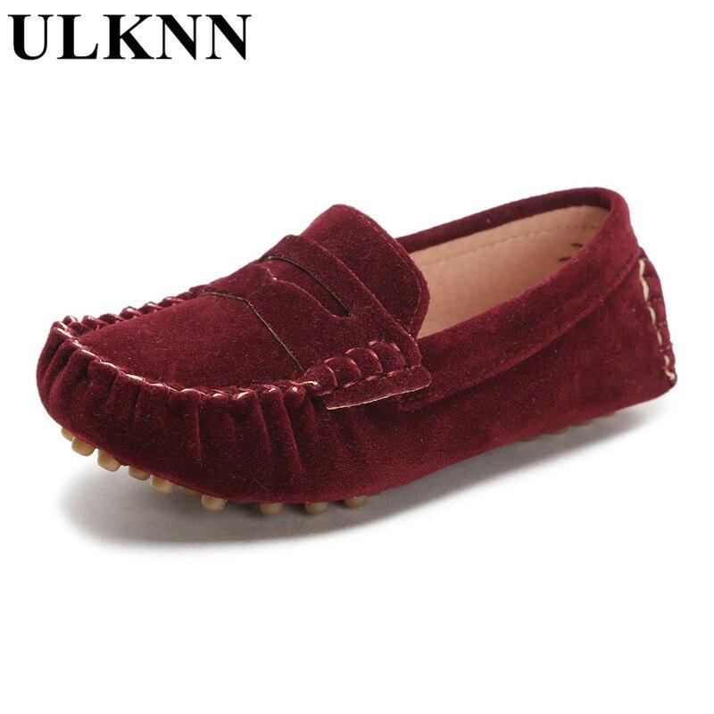 ULKNN konfet rəngli uşaqlar yumşaq dəri loafers uşaq moda - Uşaq ayaqqabıları - Fotoqrafiya 4