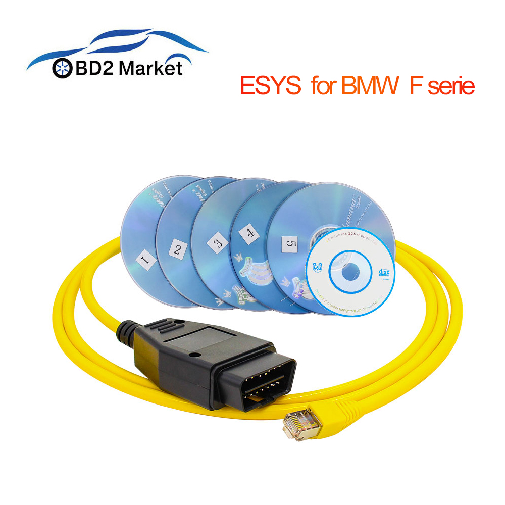 Esys Enet F Serie Autodata Cable For BMW F-serie Diagnostic Cable With CD ICOM Enet Cable For BMW Diagnostic Coding OBD Scanner