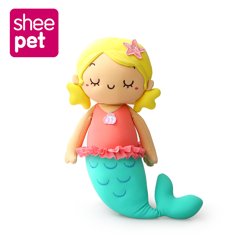 Cute Little Mermaid Ariel Princess Doll Plush Toy Stuffed Dolls Gift for Girls New Year super cute plush toy dog doll as a christmas gift for children s home decoration 20