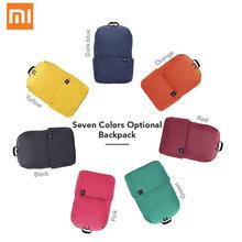 4dc1f840aa2e Xiaomi маленький ранец водостойкий Модный Черный Красный Синий путешествия  холст рюкзак подарок для мальчиков и девочек. Доступно цветов: 7