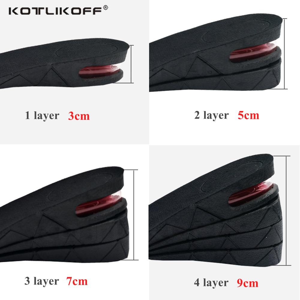 Men and Women Breathable 3 5 7 9 CM Air Cushion Invisible Shoe Pads Lift Adjustable Cut Height Increase Insoles Heel InsertsMen and Women Breathable 3 5 7 9 CM Air Cushion Invisible Shoe Pads Lift Adjustable Cut Height Increase Insoles Heel Inserts