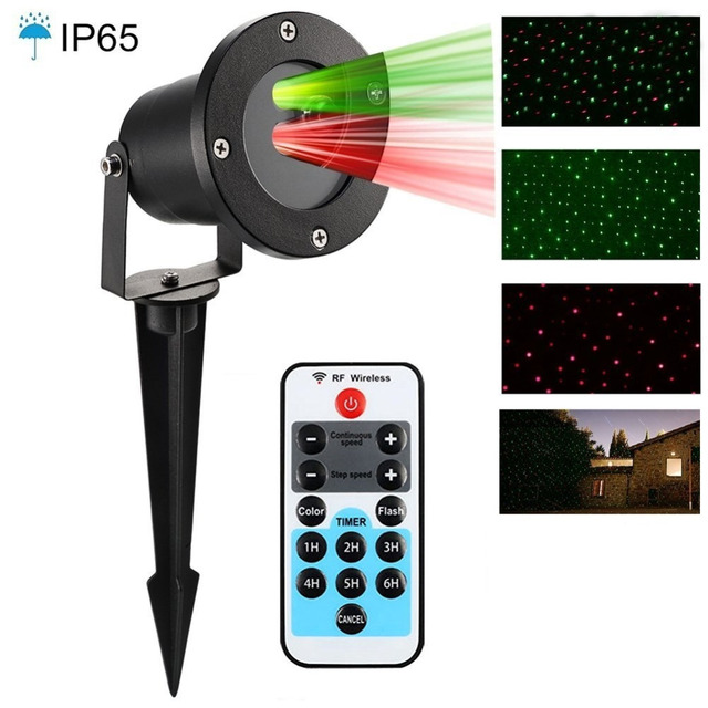 laser christmas lights icicle shower red green outdoor lights with remote controller waterproof landscape lighting for