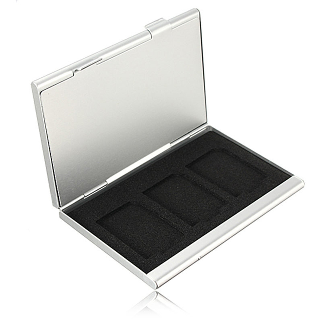 Image 3 - NOYOKERE High Quality 6 Slots Dougle desk Aluminum Storage Box For SD SDHC SDXC MMC Memory Card Case Holder Protector-in Memory Card Cases from Computer & Office