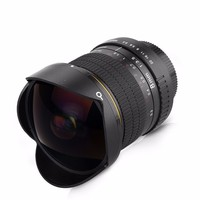 8mm F/3.5 Ultra Wide Angle Fisheye Lens for APS C/ Full Frame Nikon D800 D700 D3200 D5200 D5500 D7000 D7200 D90 D3 DSLR Camera