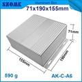1 pcs/lot Custom Processed Factory Extrusion Aluminum Material Electrical Junction Box Case Enclosure