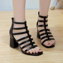 Shoes Women 2019 Fashion Summer Sandals Women High Heels Ankle Shoes Cut Out Ladies Shoes Dress Party Gladiator Sandals Zip Shoe lapolaka 2018 summer brand natural cow suwde ankle wrap women sandals high heels ethnic shoes woman fashion date party shoe