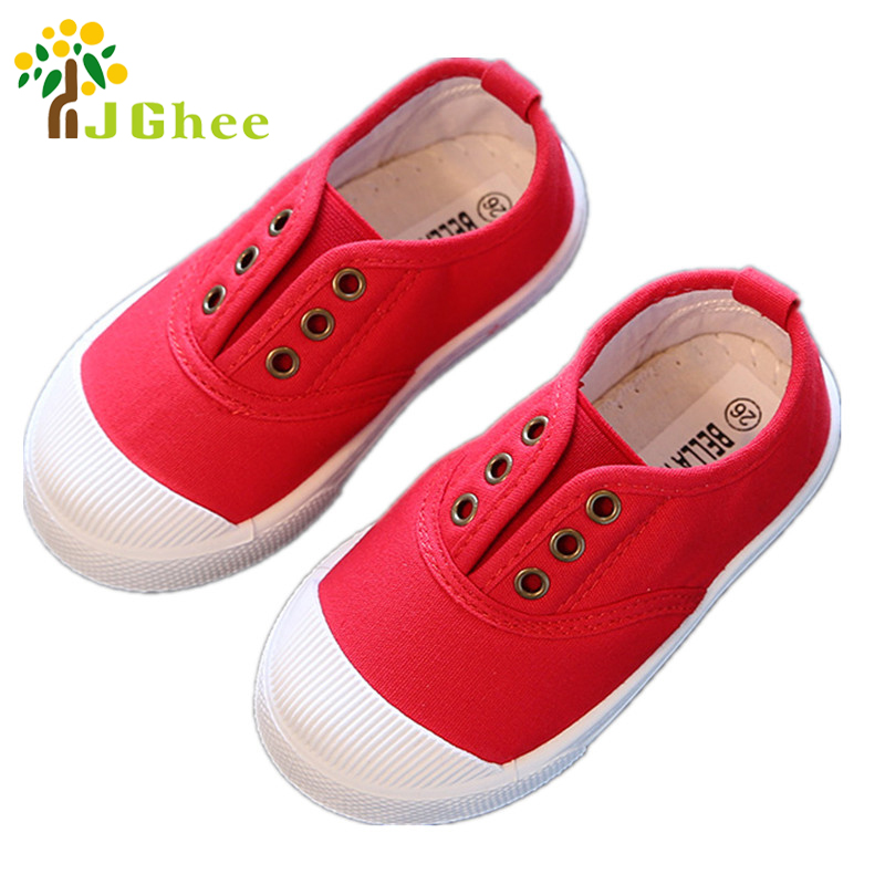 J Ghee Boys Girls Spring Summer Shoes Kids Casual Sneakers Candy Colors Sports Running Children's Canvas Shoes Fashion Soft New