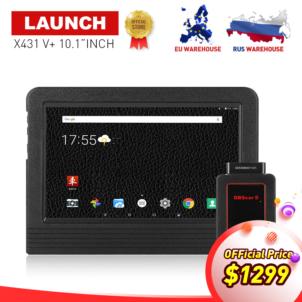 100% LAUNCH X-431 X431 V+ 10.1inch Wifi/Bluetooth Auto diagnostic scanner with 2 years free update Same as X431 Pro3 Scan Tool
