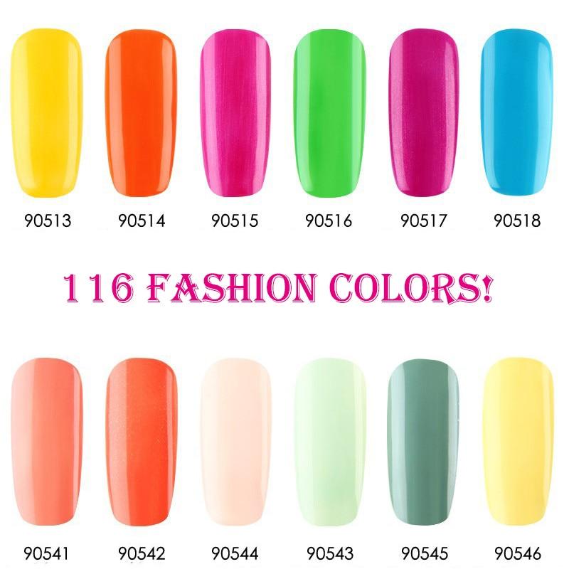 12 unids / lote Nueva Llegada Soak Off UV Led Gel Esmalte de Uñas - Arte de uñas