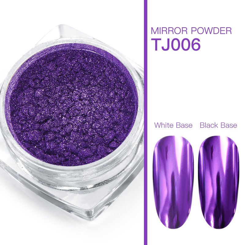Волшебное зеркало блеск для ногтей Dip порошок Сияющий хром пигмент пыль голографическое искусство ногтей Маникюр УФ пудра для ногтей гель лак - Цвет: VS00732